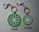 Iris Key Chain Mandala Purse Charm Bag Charm Unique Gift Coronet Of Courage