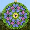 Iris Glass Suncatcher Decor Home Ornament Window Decor Unique Gifts Mandala