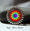 Brooch Lapel Pin Collar Pin Hat Pin Scarf Pin Rainbow Chakra Mandala Sacred Geometry Unique Gift For Her Delicate Dharma