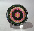 Glass Paperweight Lotus Flower Mandala Zen Sacred Geometry Kaleidoscopic Enlightened One