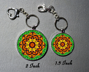 Key Chain Monarch Butterfly Key Ring Custom Keychain Sacred Geometry Bag Charm Purse Charms Mandala d