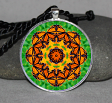 Monarch Butterfly Necklace Pendant Charm Gift Sacred Geometry Geometric Mandala Necklace c