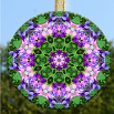 Sweet Pea Glass Suncatcher Mandala Zen Sacred Geometry Unique Gift For Her Fragile Essence