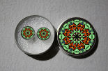 Post Earrings Monarch Butterfly Mandala Sacred Geometry Zen Bohemian Kaleidoscopic Guardian Angel