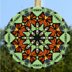 Glass Suncatcher Monarch Butterfly Mandala Zen Sacred Geometry Unique Gift For Her Guardian Angel