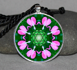 Heart Chakra Circle Geometric Mandala Pendant Necklace Jewelry Boho Jewelry b