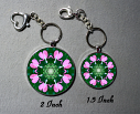 Key Chain Heart Chakra Mandala Purse Charm Bag Charm Unique Gift Heart Chakra 2