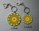 Honey Bee Keychain Purse Bag Charms Mandala Jewelry Sacred Geometry Bee Gifts Custom Keychain d