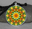 Honey Bee Mandala Boho Geometric Necklace Pendant Jewelry Unique Jewelry Bumble Bee Gift d