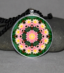 Lotus Flower Pendant Necklace Mandala Chakra Zen Sacred Geometry Kaleidoscopic Illumination