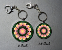 Key Chain Lotus Flower Chakra Yoga Mandala Jewelry Purse Charm Bag Charm Mandala Accessory Illumination