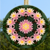 Lotus Flower Glass Suncatcher Mandala Zen Sacred Geometry Kaleidoscopic Unique Gift Illumination