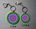 Cute Flower Bag Purse Charm Key Chain Custom Keychain Sacred Geometry Mandala Jewelry Pansy Lilac a