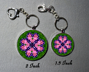 Key Chain Heart Chakra Mandala Purse Charm Bag Charm Unique Gift Love Struck