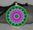 Flower Mandala Circle Geometric Necklace Pendant Jewelry Unique Boho Necklace Jewelry a