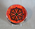 Glass Paperweight Monarch Butterfly Mandala Zen Sacred Geometry Kaleidoscopic Luminous Life-Force
