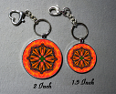 Keychain Monarch Butterfly Purse Charm Bag Charm Mandala Accessory Unique Gift Luminous Life force