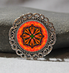 Brooch Lapel Pin Collar Pin Hat Pin Scarf Pin Monarch Butterfly Mandala Sacred Geometry Unique Gift For Her Luminous Life Force