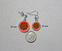 Earrings Dainty Tiny Double Sided Dangle Monarch Butterfly Luminous Life Force