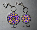Cute Flower Bag Purse Charm Key Chain Custom Keychain Sacred Geometry Mandala Jewelry Floral 44