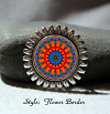 Brooch Lapel Pin Collar Pin Hat Pin Scarf Pin Forget Me Not Chakra Mandala Sacred Geometry Unique Gift For Her Mesmerizing Memories