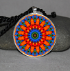Forget Me Not Pendant Necklace Mandala Chakra Zen Sacred Geometry Kaleidoscopic Mesmerizing Memories