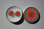 Post Earrings Forget Me Not Mandala Chakra Boho Sacred Geometry Zen Kaleidoscopic Mesmerizing Memories