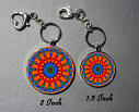 Key Chain Forget Me Not Mandala Purse Charm Bag Charm Unique Gift Mesmerizing Memories
