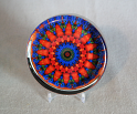 Glass Paperweight Forget-Me-Not Mandala Zen Sacred Geometry Kaleidoscopic Mesmerizing Memories