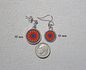 Earrings Dainty Tiny Double Sided Dangle Forget Me Not Mandala Mesmerizing Memories