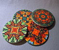 Coaster Set Drink Sandstone Custom Coasters Monarch Butterfly Nature Decor