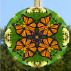 Glass Suncatcher Monarch Butterfly Mandala Zen Sacred Geometry Unique Gift For Her Monarch Mania