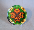 Glass Paperweight Monarch Butterfly Mandala Zen Sacred Geometry Kaleidoscopic Monarch Mania