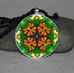 Monarch Butterfly Pendant Necklace Mandala Zen Sacred Geometry Kaleidoscopic Monarch Mania