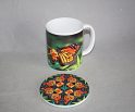 Mug Coffee Tea Hot Chocolate Unique Cute Monarch Butterfly With Coaster Gift Set Transcendence