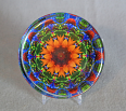 Glass Paperweight Sunflower Mandala Zen Chakra Sacred Geometry Kaleidoscopic My Beauty Within
