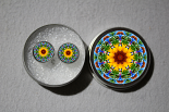 Post Earrings Sunflower Mandala Chakra Boho Sacred Geometry Zen Kaleidoscopic My Beauty Within
