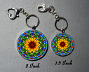 Key Chain Sunflower Mandala Chakra Purse Charm Bag Charm Unique Gift My Beauty Within