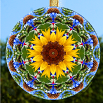Sunflower Glass Suncatcher Home Decor Chakra Meditation Tool Yoga Gift Home Ornament