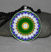 Daisy Pendant Necklace Mandala Zen Sacred Geometry Kaleidoscopic My Love Blooms Eternal