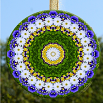 Daisy Glass Suncatcher Mandala Zen Sacred Geometry Unique Gift For Her My Love Blooms Eternal