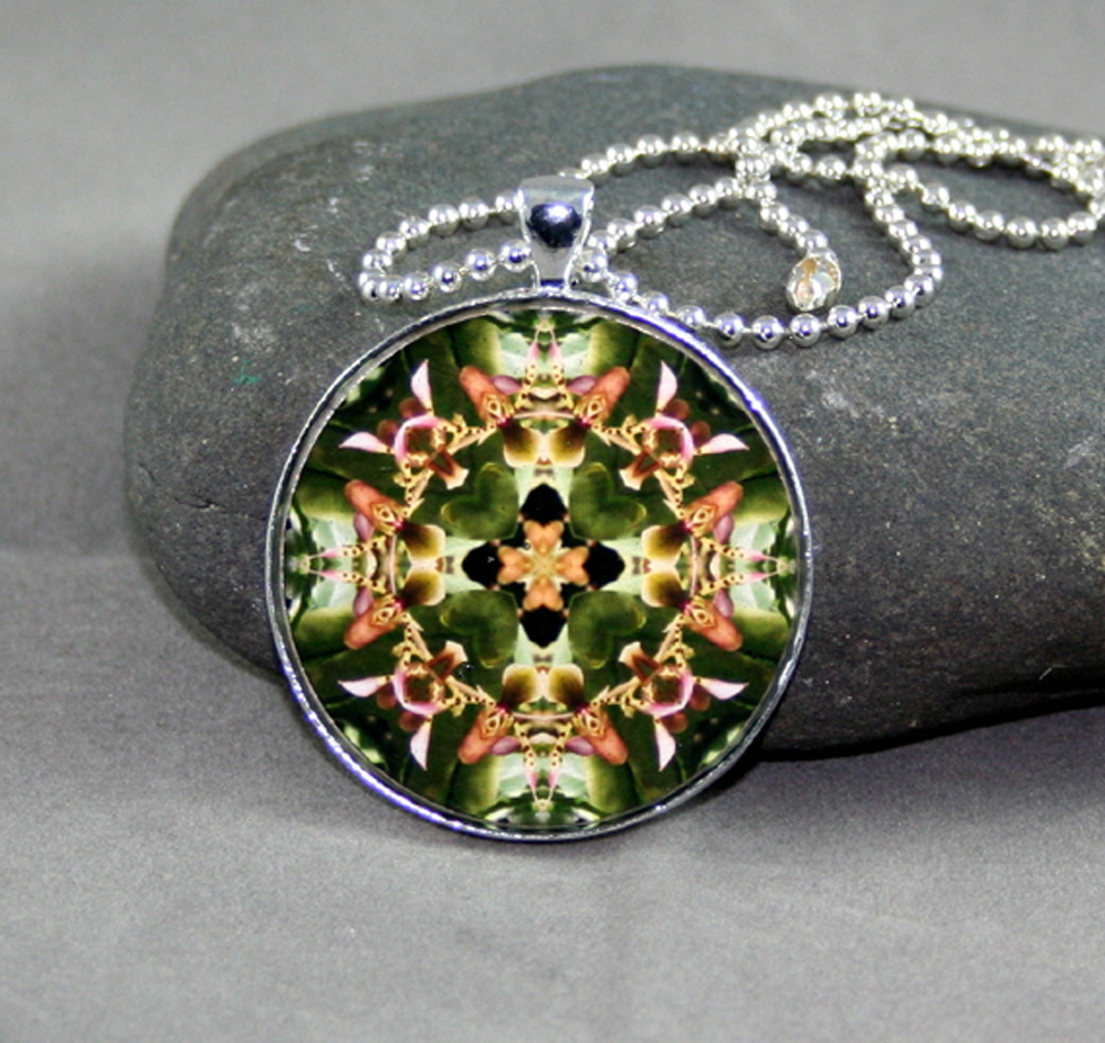 Orchid Necklace geometric mandala kaleidoscope My Hearts Desire