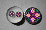 Post Earrings Daisy Mandala Boho Sacred Geometry Circle Yoga Earrings Peaceful Ambiance