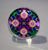 Glass Paperweight Daisy Mandala Desk Accessory Bosses Gift Teacher Gift Coworker Gift Peaceful Ambiance