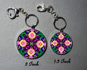 Key Chain Daisy Mandala Purse Charm Bag Charm Unique Gift Peaceful Ambiance