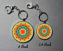 Cute Flower Bag Purse Charm Key Chain Custom Keychain Sacred Geometry Mandala Jewelry Lantana