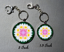 Key Chain Lotus Flower Chakra Purse Charm Bag Charm Mandala Accessory Profound Soul