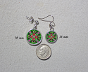 Earrings Dainty Tiny Double Sided Dangle Hummingbird Mandala Jewelry Spirited Sprite