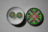 Post Earrings Hummingbird Mandala Boho Sacred Geometry Zen Kaleidoscopic Spirited Sprite