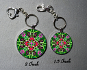 Key Chain Hummingbird Mandala Purse Charm Bag Charm Unique Gift Spirited Sprite
